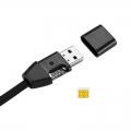 GPS lokátor ukrytý v USB kábli s diaľkovým audio záznamom okolia