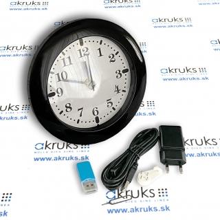 Skrytá kamera 1080P v nástenných hodinkách so zabudovaným WiFi modulom