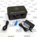 Bezdrôtová nabíjačka smartfónu so skrytou kamerou a BT reproduktorom