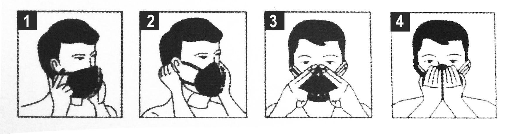 Akruks doporučuje nasadzovať respirátor takto